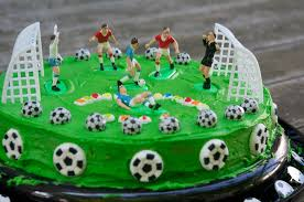 How To Decorate A Soccer Ball Cake Buttercream Grass for Soccer Ball Cake Birthday Cakes YouTube 78