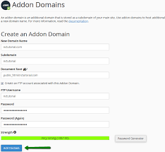 How to add a new domain to the hosting account (cPanel questions)