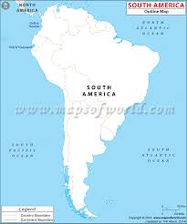 South America Physical Map Outline Image Gallery With South America