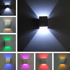 Led Wall Lamps Bedroom Aliexpresscom Buy Square Up And Down Led Wall Light 3w Wall Led