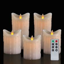 Candle Light Illusion Nara One Flameless Candles Led Candles Battery Operated Electric Candle Flameless Candles Remote Control Flickering Candles Timer Ivory 5pcs 3pcs H4