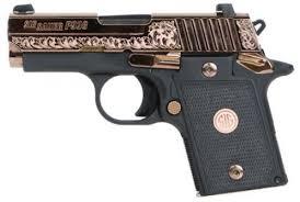 sig sauer 9389ergambi p938 single 9mm 3 6 1 black g10 grip polished rose gold 849 99