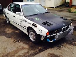 BMW Convertible bmw vs mercedes drift : BMW E34 3.5 twin turbo converted drift track race skid car! E36 ...