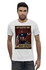 <b>Футболка Wearcraft Premium</b> Slim Fit Капитан Америка / Captain ...
