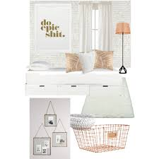 Small Picture doepicshit bedroom white copper neutral serene Polyvore