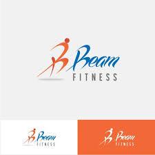 beam fitness logo design template template