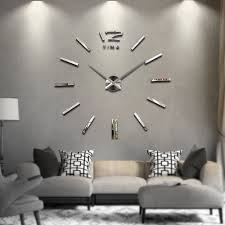 large 3d modern frameless wall clock style watches hours room home ogue diy 1 of 2free