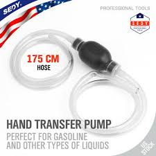 Largest <b>Manual Hand Siphon Syphon</b> Transfer Pump Fluid Liquid ...