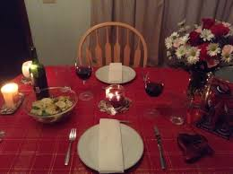 Candle Light Dinner Table Setting Romantic Candle Light Dinner Simple Table Set Up