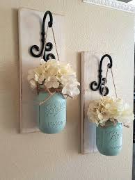 country wall decor ideas these rustic country style mason jar sconces are the perfect touch to