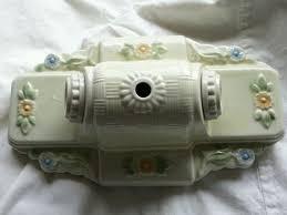 vintage porcelain porcelier ceiling light fixture ery yellow w fl