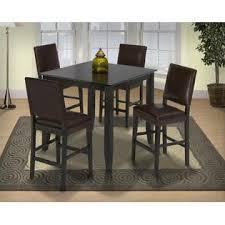 modern counter height table. Esofastore Modern Counter Height Small Family Dining Set Espresso Finish Table Cushioned 4 Side Chairs 5pc