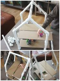 pvc pipe house building project engineering stem activity diy superhero house