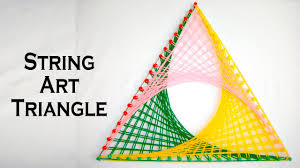 String Art Patterns String Art Patterns How To Make String Art Triangle Pattern By