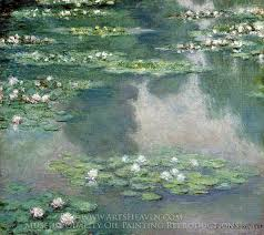 claude monet water lilies 1905 oil painting reion