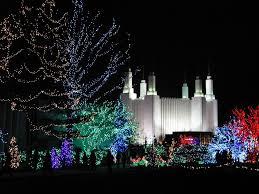 Mormon Tabernacle Washington Dc Christmas Lights Washington D C Lds Temple Features Its Festival Of Lights