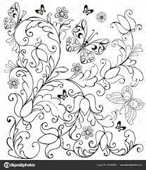 Niewu Kleurplaat Bloemen En Vlinders Kleurplaat 2019