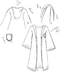 image result for hogwarts robes drawing