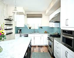 gray and blue backsplash tile blue and white view in gallery blue glass subway tile brings