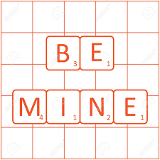 Design Tiles Game The Inscription Be Mine On The Tiles Word Game Board Design