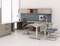 height adjustable office desk. Knoll Sit To Stand Tone Height-Adjustable Tables With Reff Profiles Private Office Height Adjustable Desk A