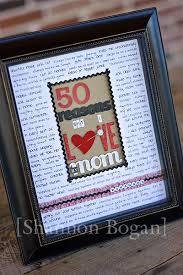 50 reasons frame diy gifts mom birthday giftoms 50th birthday gift