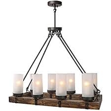 lnc wood chandeliers kitchen island chandelier lighting 8 light with metal and decor 4