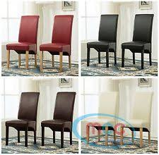 faux leather high back chairs. faux leather dining chairs roll top scroll high back home commercial restaurants