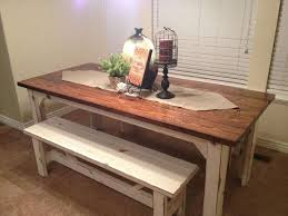 rustic kitchen table with bench. Farmhouse Kitchen Table With Bench Inspirational Rustic Dining Elegant Gorgeous And 2017 Felice