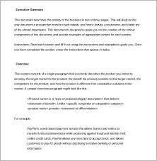 executive summary example business executive summary template template business