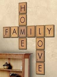Large Scrabble Tiles Decorative How To Make Large Scrabble Tiles DIY Cozy Home 1