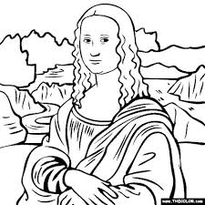 Small Picture Mona Lisa Coloring Page Best Of glumme