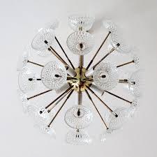 large brass and glass sputnik chandelier imagen 4 1 701 00