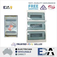 switchboard 42 way pole surface mount distribution board fuse box