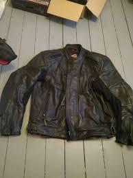 hein gericke oxan leather motorcycle bike jacket mens 48 euro 58 l
