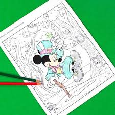 mickey mouse st patrick s day hidden
