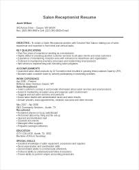 Hair Salon Receptionist Resume Receptionist Resume Template 8 Free Word Pdf Document