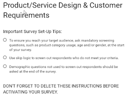 Customer Form Template Google Form Template Product Service Design Customer Requirements
