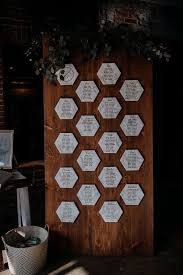 Modern Wedding Seating Chart Idea Wooden Board With Marble