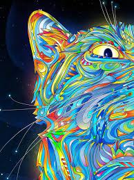 Trippy Cat Wallpaper posted by Ryan Johnson