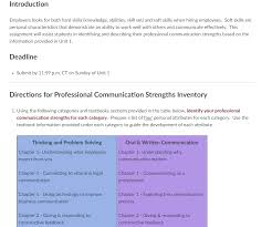 Skills And Strengths List Text Book Info Business Communication Today Court