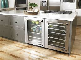 glass door refrigerator residential style