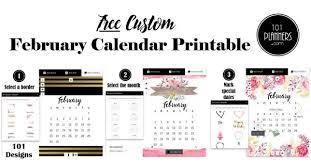 February 2020 Calendar Template Printable February 2020 Calendar Fee Customizable Printable