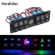 Herorider Car Styling <b>12V</b> 24V Waterproof <b>Boat Marine</b> 6 Gang <b>LED</b> ...