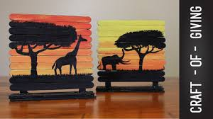Image Easy Youtube Craft Stick Art Canvases Craft Of Giving Youtube