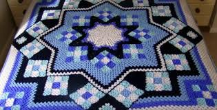 Afghan Crochet Patterns Magnificent Blue Star Crocheted Afghan [FREE Crochet Pattern]