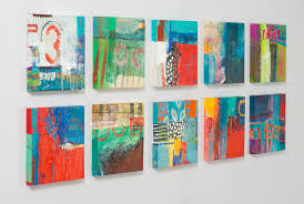group of bold abstract paintings