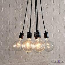 edison bulb pendant lighting. Exellent Bulb Simple Designer Edison Bulb Black LED Multi Light Pendant Pertaining To  Inspirations 18 And Lighting