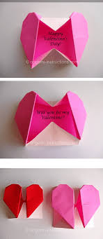 how to make origami paper heart gift box with secret message how to make a origami