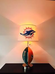 miami dolphins lamp man cave decor sports lamp kids night light table